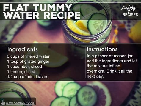 Does Detox Flat Tummy Recipe Work by Flat Tummy Water Recipe By Dr Julie Mercy J David Raja