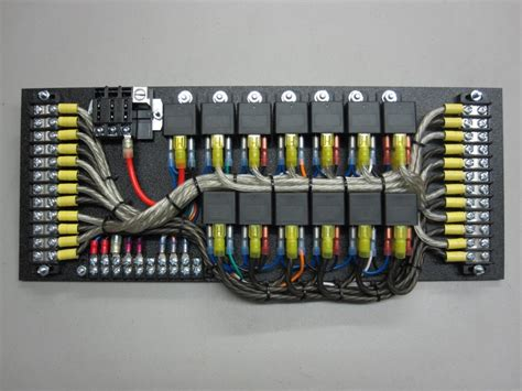 race car fuse and relay panel wiring diagram schemes