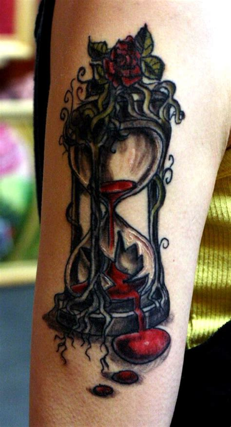 broken hourglass tattoo 30 and clear hourglass designs