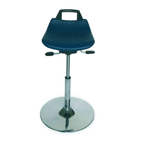 sit stand chair stool sit stand stool retro look by lotz with pu seat blue 299