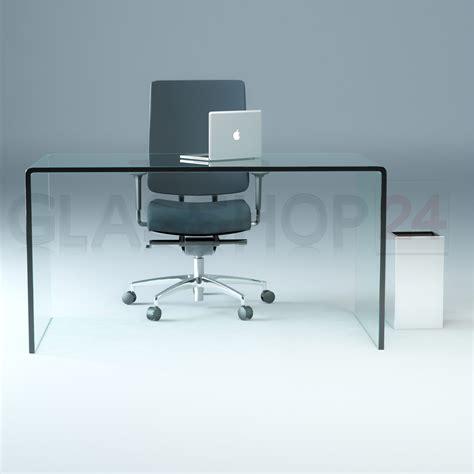 Design Glas Schreibtisch 15mm Echtglas B T H 140x70x73cm