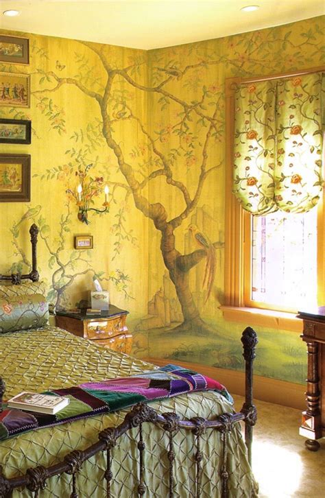 home design with yellow walls boho decor bliss bright gypsy color hippie bohemian