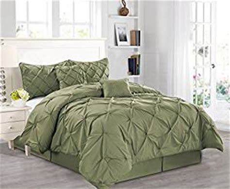 amazon com 6 pieces luxury solid sage green pinch pleat
