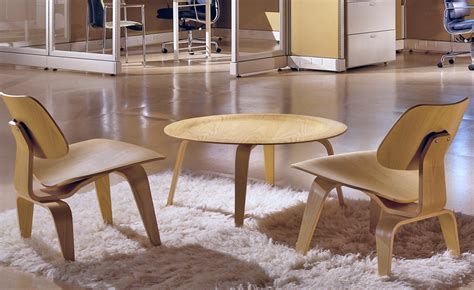 Eames Molded Plywood Coffee Table Eames Molded Plywood Coffee Table With Wood Base Hivemodern