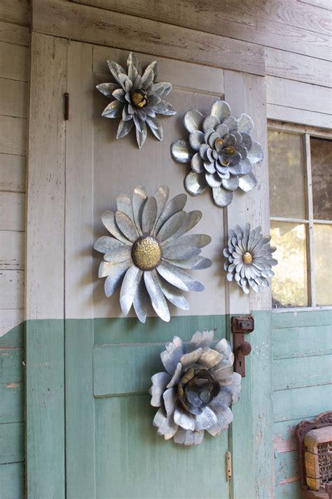 set   metal flower wall hangings