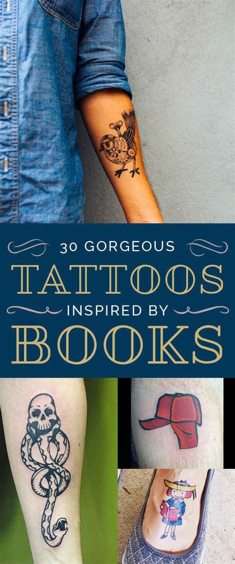 tattoos inspired by books 30 gorgeous tattoos inspired by great books great books