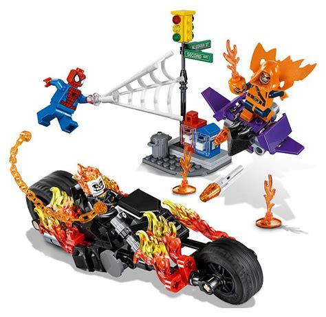 Lego Marvel Heroes 76058 Spidermanghost Rider Team Up Set buy toys and models lego spider ghost rider team up 76058 marvel universe heroes