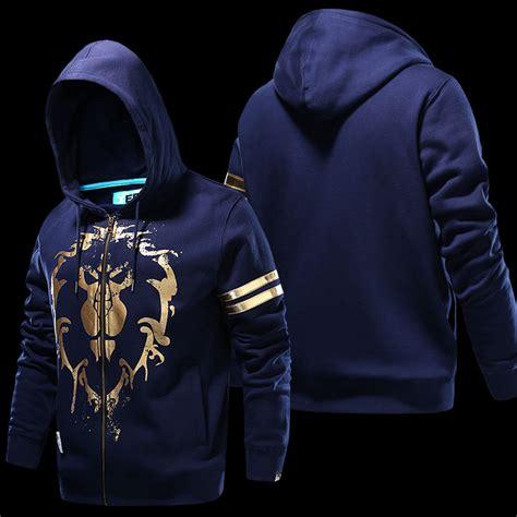 Zipper Hoodie World Warcraft 091j world of warcraft alliance logo sweatshirts boys blue