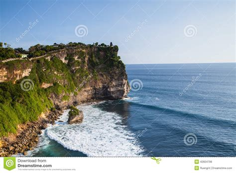 cliff bali view of a cliff in bali indonesia stock photo image