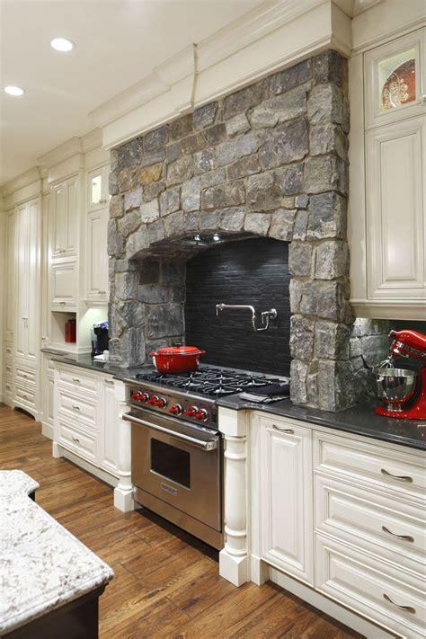 stove in corner of kitchen