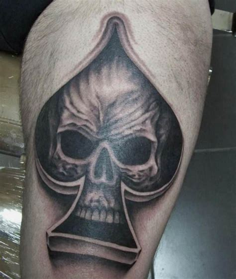 skull spade tattoo designs ace of spades skull tattooed