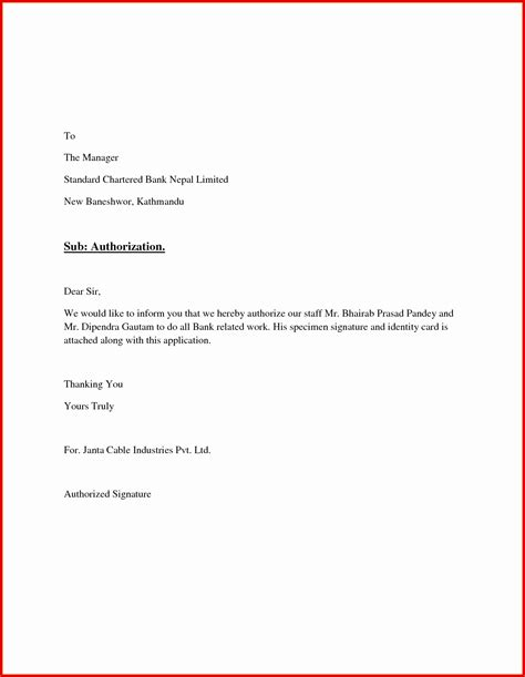 authorization letter format for signing inspirational sle authorization letter for signing