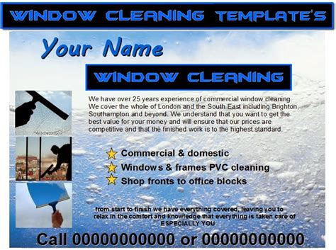 window cleaning templates free window cleaning flyer templates business templates forms