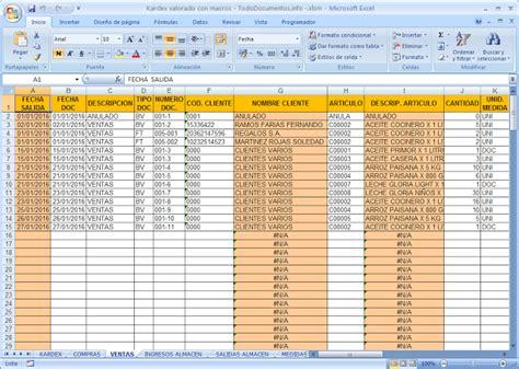 descargar control almacen en excel en portalprogramas descargar hoja de kardex en excel