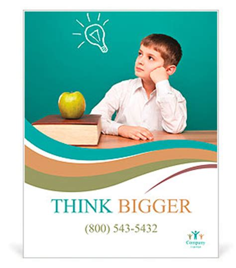 templates for school posters cheerful little boy sitting at the table school concept