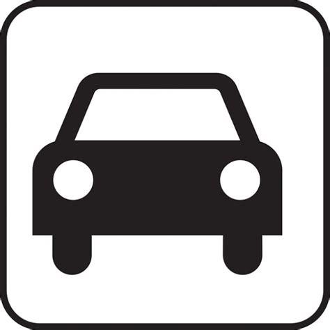 Auto Symbol by Driving Sign Motorized Automobile Car Icon Symbol Photo