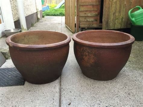 Large Ceramic Planters For Sale Two Large Ceramic Pots For Sale In Ratoath Meath From T