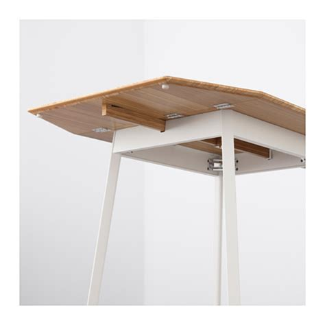 drop leaf table ikea ikea ps 2012 drop leaf table bamboo white 74 106 138x80 cm
