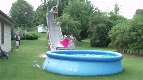 backyard waterslides backyard water slide part 2 youtube