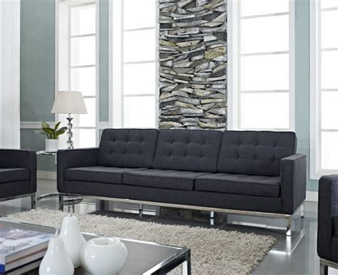 dark gray couch florence style dark gray wool loft sofa midcentury