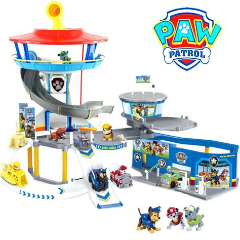 Paw Patrol Parking paw patrol lookout station parking lot pup car toys