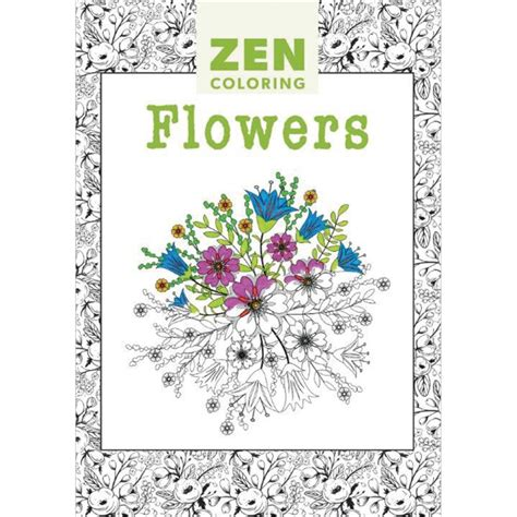 zen coloring books for adults zen coloring flowers coloring books