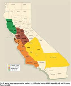 california wine growing regions map california wine growing regions map california map