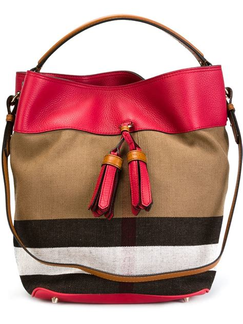 Burberry Check Canvas Tote by Burberry Medium Check Canvas Tote Lyst