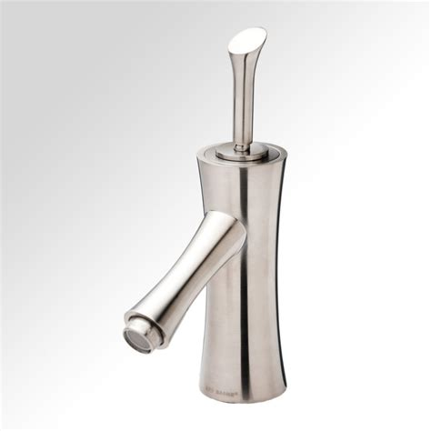 bathe bamboo single lever bathroom faucet in brushed