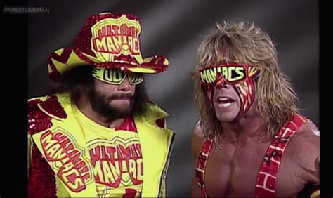 Ultimate Warrior Meme - the ultimate warrior and macho man spinning piledriver