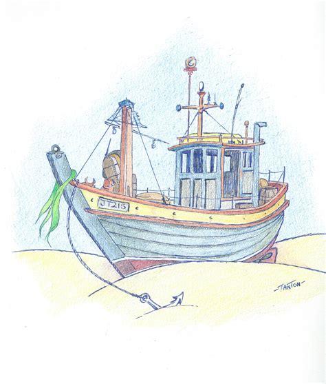 small fishing boat drawing drawings john tanton