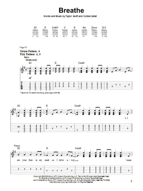 Easy Guitar Chords Taylor Swift