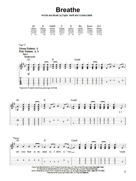 Breathe Taylor Swift Guitar Chords