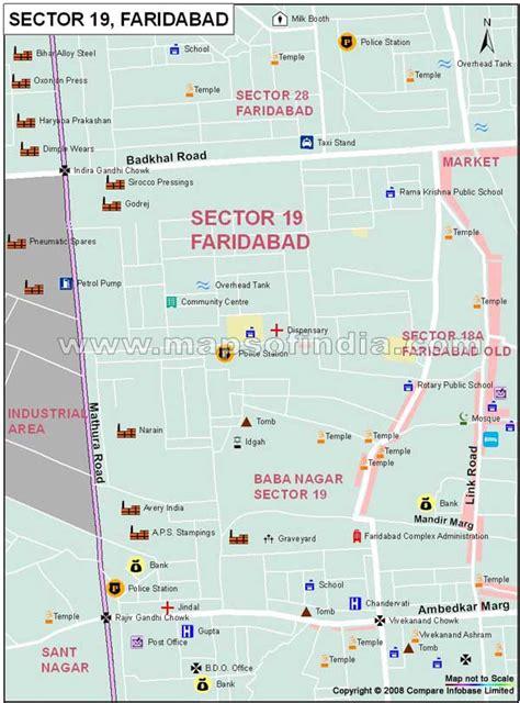 Sector 19 Faridabad Map