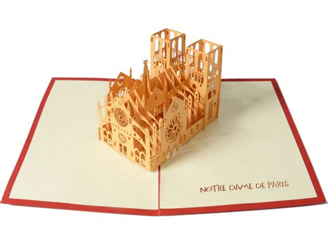 Lasercut Popup Card Template by House Of Cards Uses A Laser Cutter To Create Elaborate