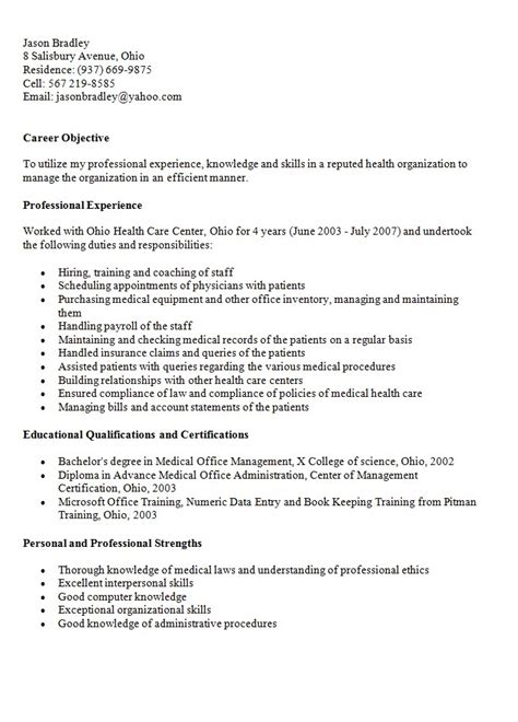 Receptionist Job Duties For Resume by Medical Records Resume Sample Free Resumes Tips