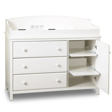 Baby Changing Table White South Shore Cotton Candy Changing Table Pure White