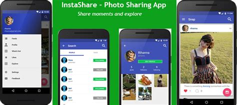 buy app templates buy instashare instagram app template android app chat