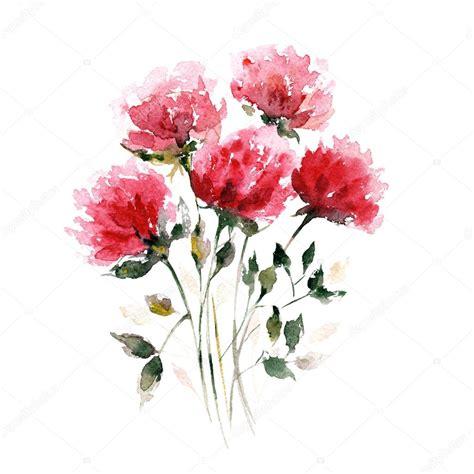 fiori ad acquerello bouquet di fiori ad acquerello foto stock 169 oaurea 89747330
