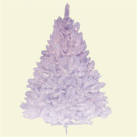 general foam 4 5 ft pre lit deluxe winter white fir