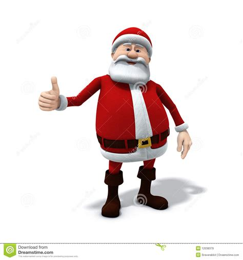 santa thumbs up stock illustration image of digital