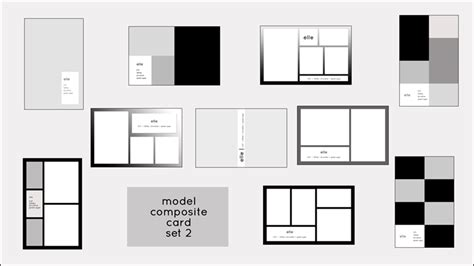 zed card template model comp card templates model composite card templates