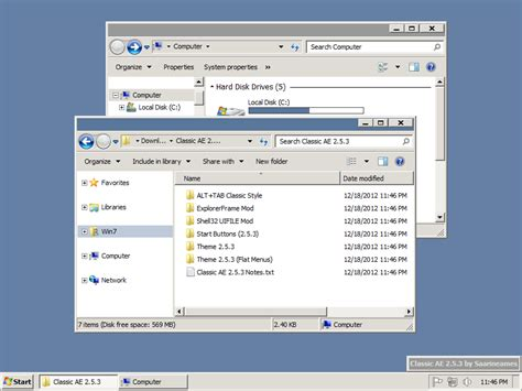 download theme windows 7 classic classic ae 2 5 3 final by saarineames on deviantart