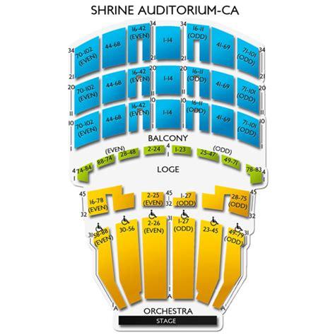 the shrine los angeles seating chart shrine auditorium los angeles tickets shrine auditorium