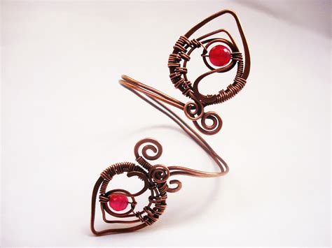 Handmade Wire Jewelry - handmade set wire wrapping with copper wire and