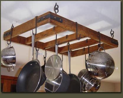 Simple Pot Rack White Build A Diy Pallet Pot Rack Feature By Faith