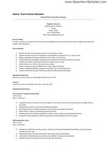 doc 620800 heavy truck driver resume resumecompanion