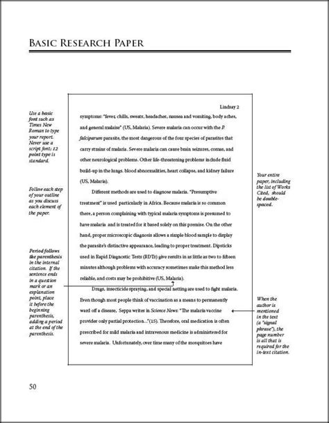 Sample mla research paper page from a rookie s guide to research