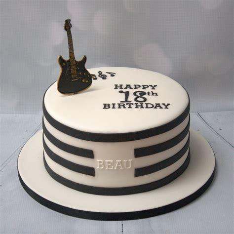 black white guitar cake