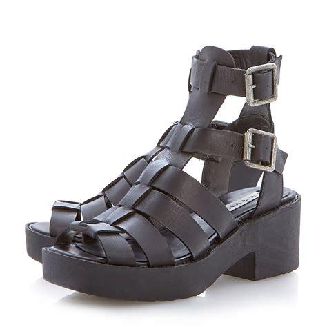 steve madden gladiator sandals lyst steve madden schoolz platform gladiator sandals in